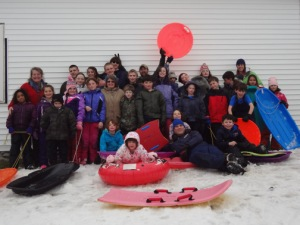 Sledding Group Shot